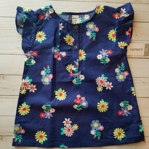 Carters, Toddler Girl Floral top, Size 5T